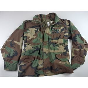 US ARMY WOODLAND CAMO M-65 FIELD COAT COLD WEATHER